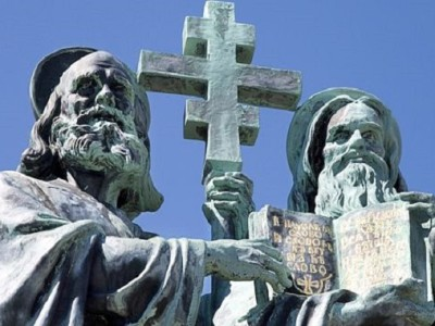 Cyril a Metodej, hora Radegast, Pustevny, Beskydy, Ceska republika